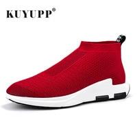 KUYUPP 2017 New Summer Mesh Men Shoes Loafers Walking Shoes Lightweight Comfortable Breathable Men Tenis Feminino