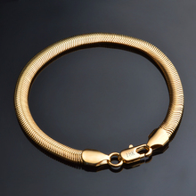 JEXXI Free Shipping New Fashion Retro Bracelets For Men Bracelets  Gold Color Link Chain Bracelet Male Jewelry Wholesale