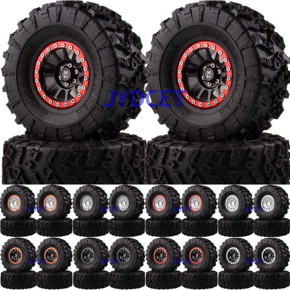 12-Spokes Beadlock 2.2 Aluminum Wheel Rim & Super Swamper Rocks Tyre 132mm 4pcs 2022-3022 For RC 1/10 Climbing Rock Crawler12-Spokes Beadlock 2.2 Aluminum Wheel Rim & Super Swamper Rocks Tyre 132mm 4pcs 2022-3022 For RC 1/10 Climbing Rock Crawler