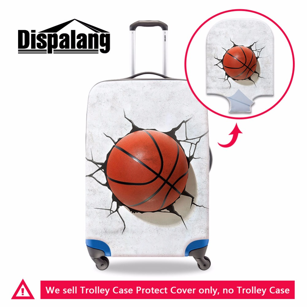 Dispalang Foldable Luggage Cover with Zipper Closure Cool Ball 3D Printed Suitcase Cover Travel Accessories Trolley Bag Covers