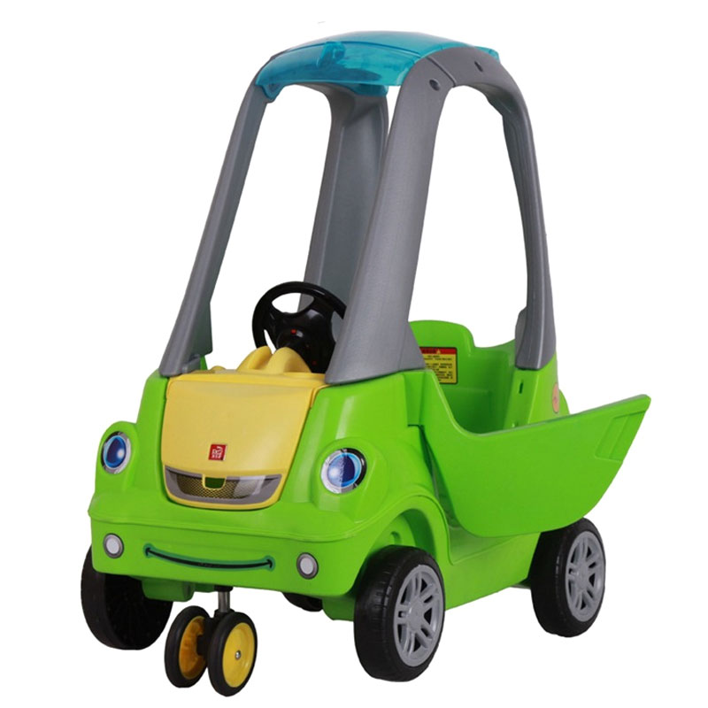 Baby Ride on Car Game Plastic Toys Car Kids Outerdoor Sports Four Wheels Ride on Turtle Car for Children Learning Walker Aid peppa s car ride