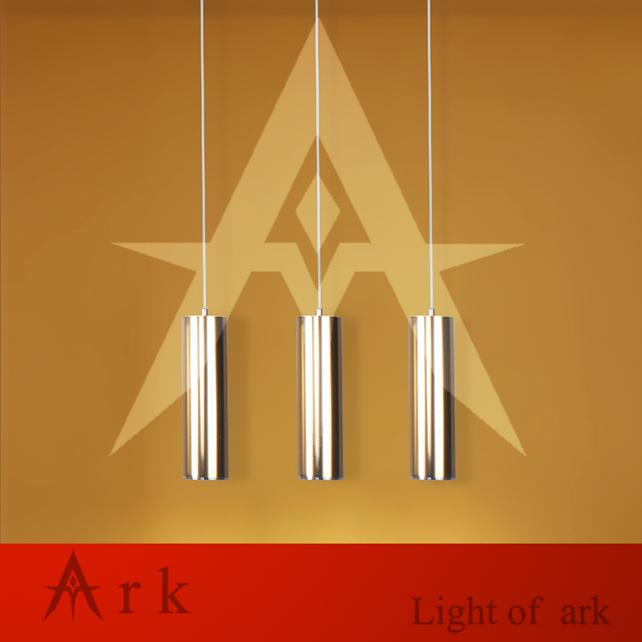 height 28cm Mirror Gold Aluminum cannular TUBE Cylinder Shape hanging light Hotel Hall Shop Commercial LED Pendant Lamp