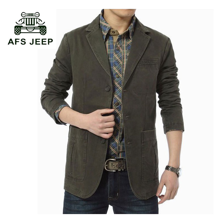 AFS JEEP 2017 New Arrival Autumn Mens Jackets Solid Fashion Coats Male Casual Slim Stand Collar Jacket Men Overcoat 88z