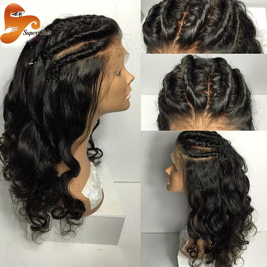 Ponytail Full Lace Human Hair Wigs For Black Women Loose Wave Brazilian Human Hair Wigs Glueless ...