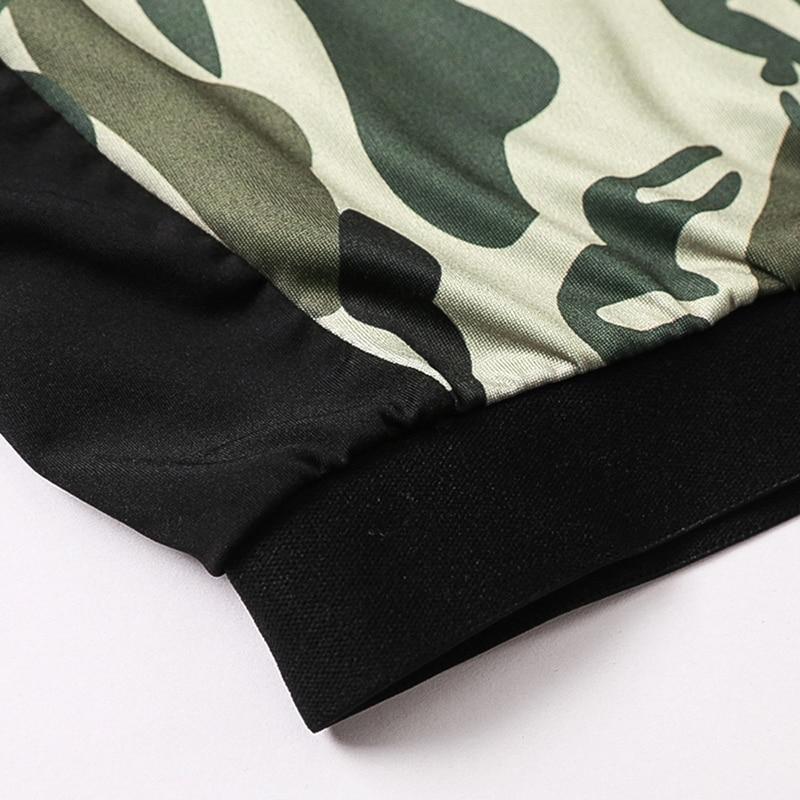 2019 Zweiteiler Trainingsanzug Camouflage Sexy - Sportbekleidung und Accessoires - Foto 5