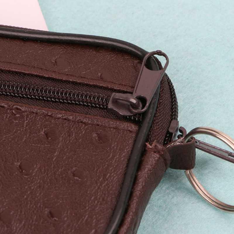 1 PC Macio Das Mulheres Dos Homens Cartão Titular Zip Mudança Bolsa Carteira Bolsa Chave Da Moeda Saco Bolsa de Presente