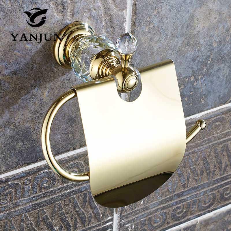 Yanjun True Quality Copper Toilet Paper Roll Holder With Flap Wall Mounted Paper Towel Holder Bathroom Accessories YJ-8057 yanjun toilet anti drop paper jumbo roll holder wall mounted paper towel dispenser bathroom accessories yj 8607