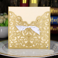 30pcs Pack Creative Wedding Invitations With Envelope Laser Cut Birthday Party Invitations Party Supplies