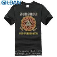 Tailored Shirts Crew Neck Men Soundgarden Superunknown Spiral 94 Tour Short Sleeve Top T Shirt