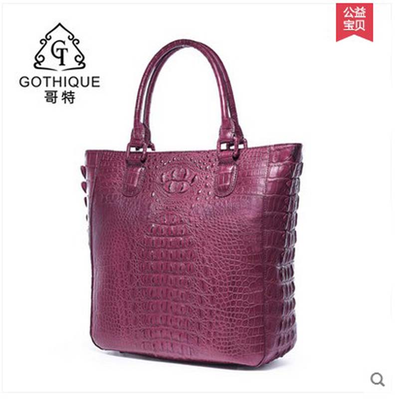 2018 gete new style luxury alligator women handbag European real crocodile leather simple crocodile women bag lady bag