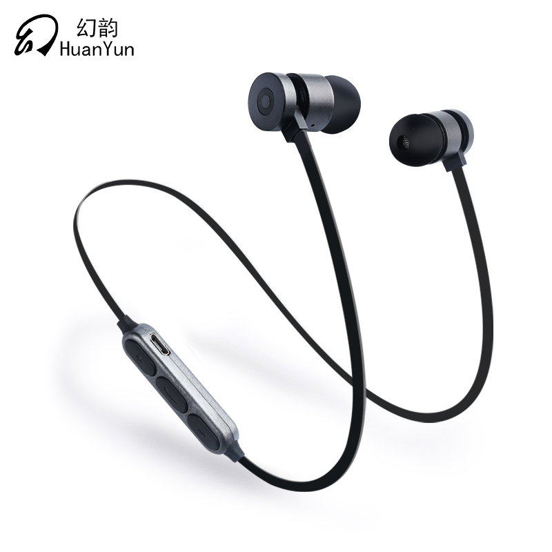 HuanYun Sport Wireless Bluetooth Earphone Neckband 4.2 Running Earphone  With Mic Bass Bluetooth Headset For iPhone Xiaomi Ipod alwup wireless headphone bluetooth earphone sport running stereo hifi music neckband bass headset with mic for xiaomi iphone