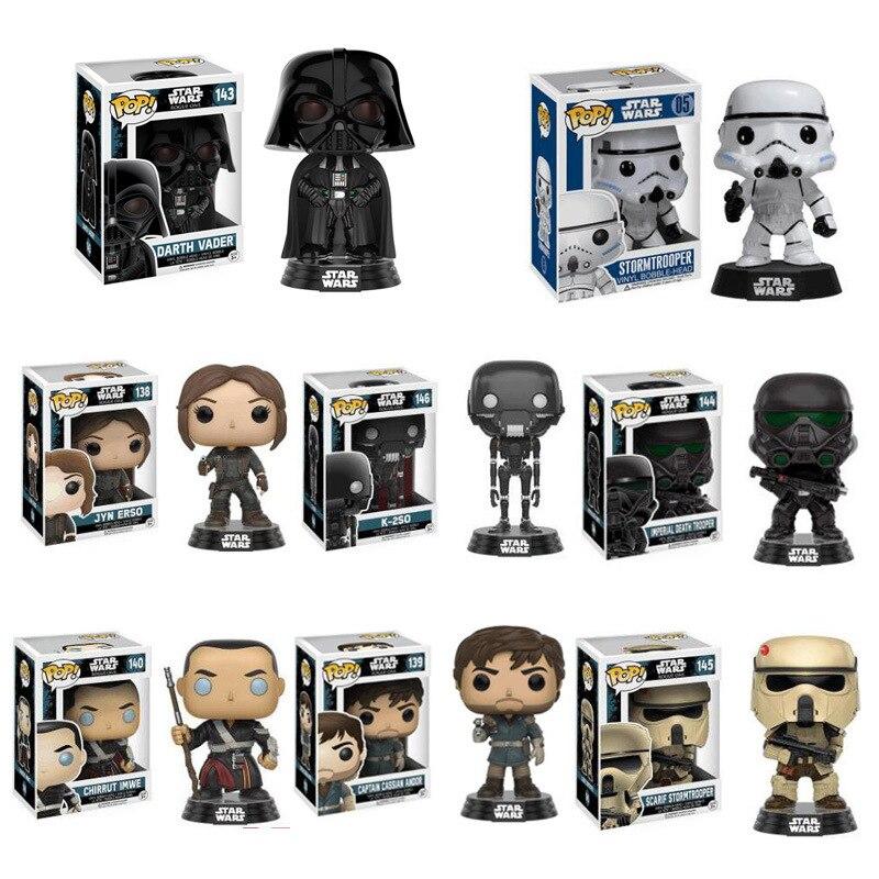 FUNKO POP Star Wars Juguetes Darth Vader Luke Skywalker Leia figura de acción Juguetes Para amigo cumpleaños regalo colección modelo