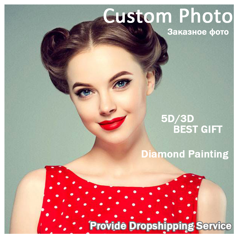 Photo Custom all Drill 5D Diamond Embroidery Private custom mural Cross Stitch Diamond Mosaic Home decoration painting LXJ in Diamond Painting Cross Stitch from Home Garden
