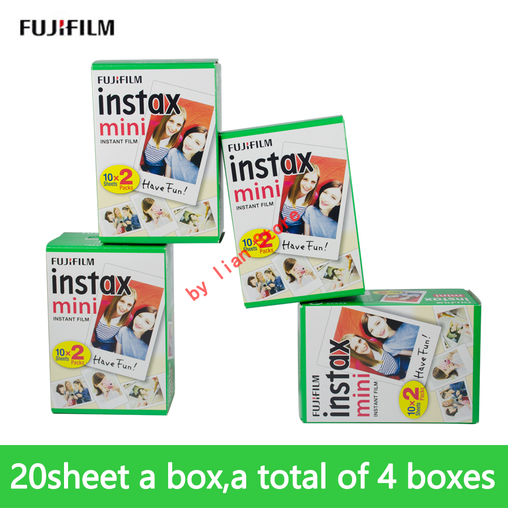 Papel foto instax mini 9 film 80 feuilles pour instax mini 8 7 s 25 50 s 90 papier photo instantané
