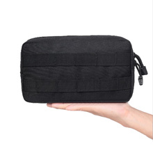 Tactical MOLLE Compact EDC Multi-purpose Admin Utility Pouch Bag 1000D Phone Gad