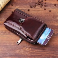 Waist Band Belt Genuine Cow Leather Mobile Phone Case For Huawei Mate 20 Pro,Mate 20 RS Porsche Design,For Galaxy J4+/J6+