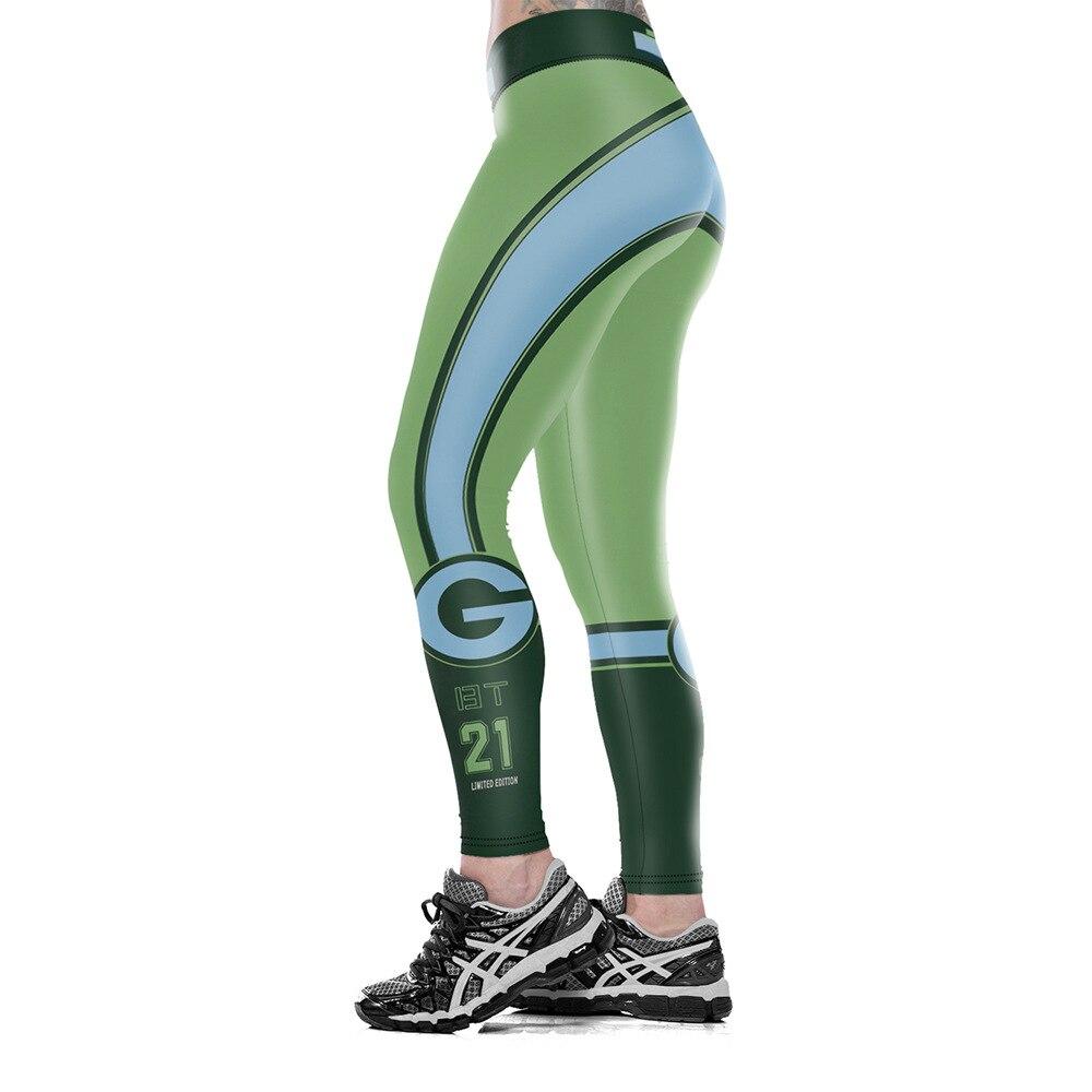 Unisex Green Bay P-Team Logo Këpucët e fitnesit Fibra elastike - Veshje për femra