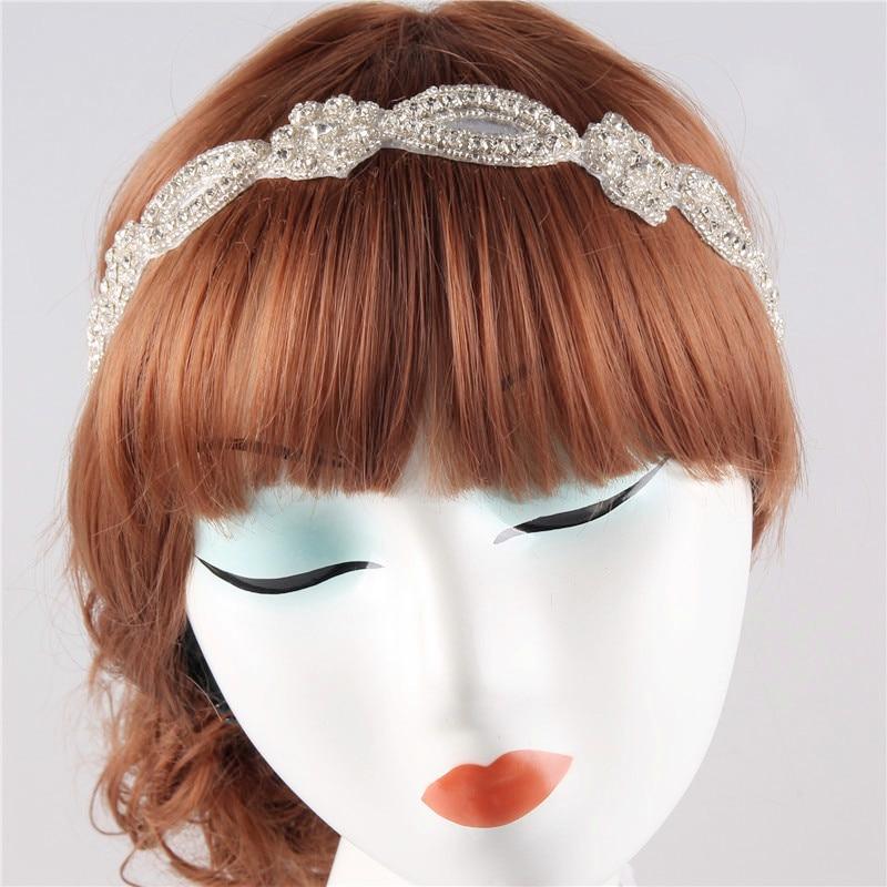ribbon wedding headband handmade women rhinestone headbands bridal
