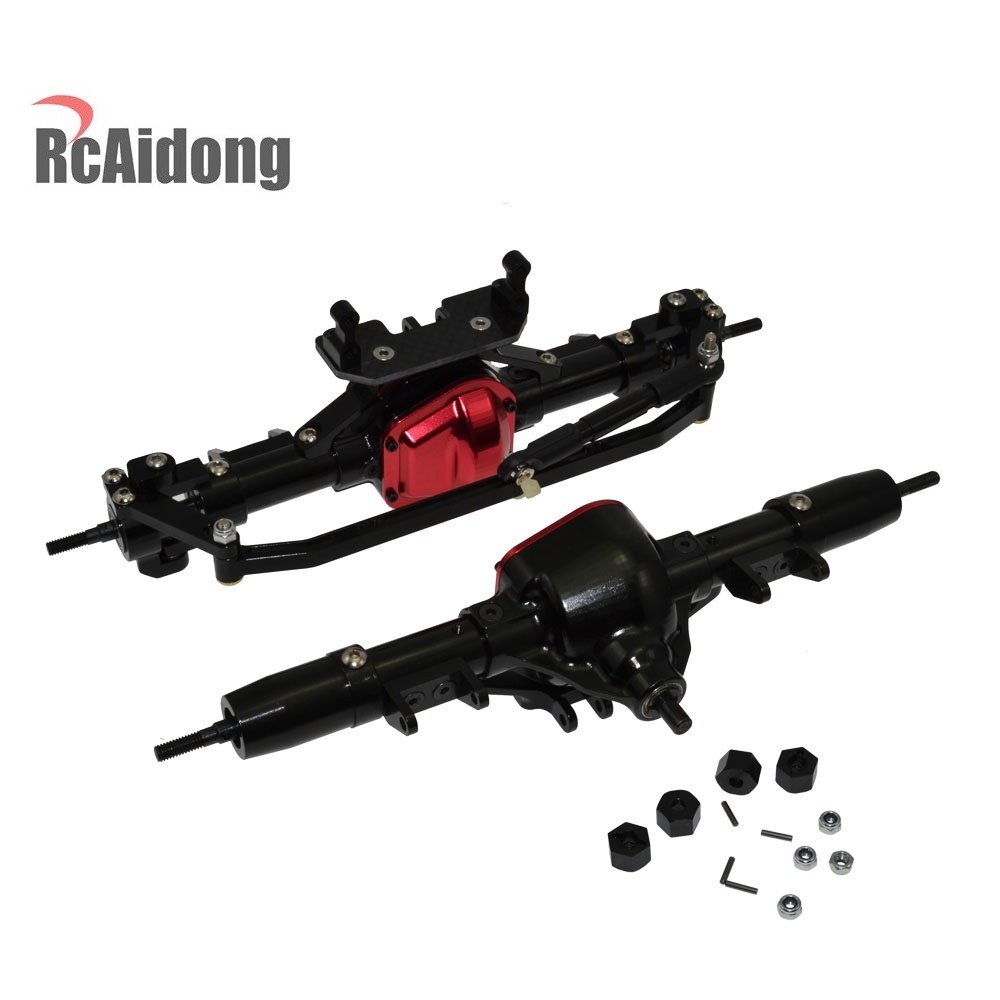 High Quality 1/10 Rc Car Complete Alloy Front And Rear Axle CNC Machined for 1:10 Rc Crawler AXIAL SCX10 RC4WD D90 Truck 1 set good quality rc car complete alloy front and rear axle 25t servo arm cnc machined for 1 10 rc crawler axial scx10 rc 4wd