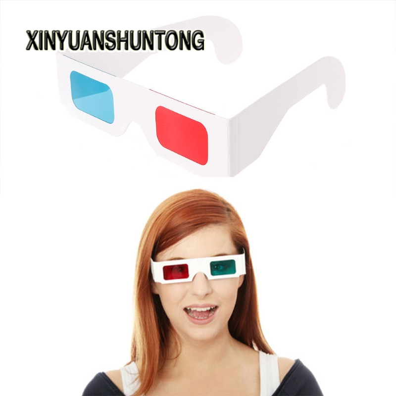 XINYUANSHUNTONG 3D Glasses 10Pcs Universal Paper Frame Red/Blue Cyan View Anaglyph 3D Glasses For Movie DVD TV