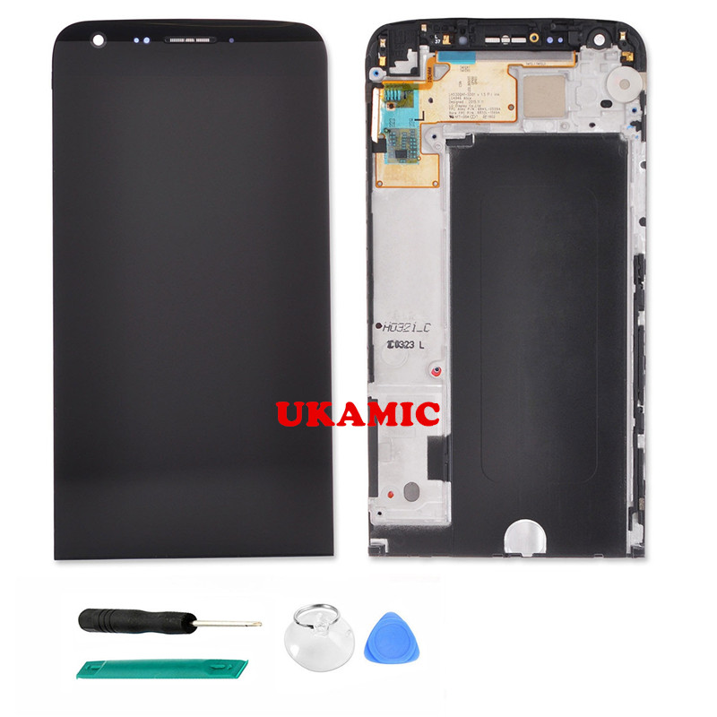 OEM LCD Display Touch Screen Digitizer Assembly for LG G5 H820 H830 VS987 LS992 US992 + Frame Replacement Part free tools