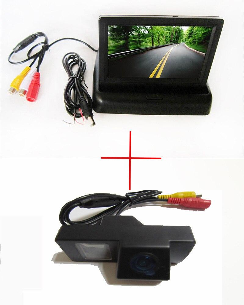 Caméra de recul de voiture HD CCD haute résolution pour TOYOTA LAND CRUISER 200 LC200/Toyota REIZ 2009, avec moniteur TFT LCD pliable de 4.3 pouces