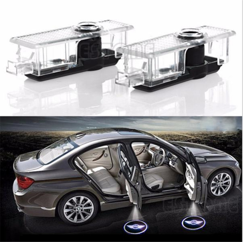 2Pc LED Car Door Welcome Laser Projector Courtesy Shadow Logo Light For BMW MINI Auto Lamp C45 auto car door logo projector welcome light laser ghost shadow lamp for bmw 5series e39 e53 x5 z8 e52 m performan car accessories