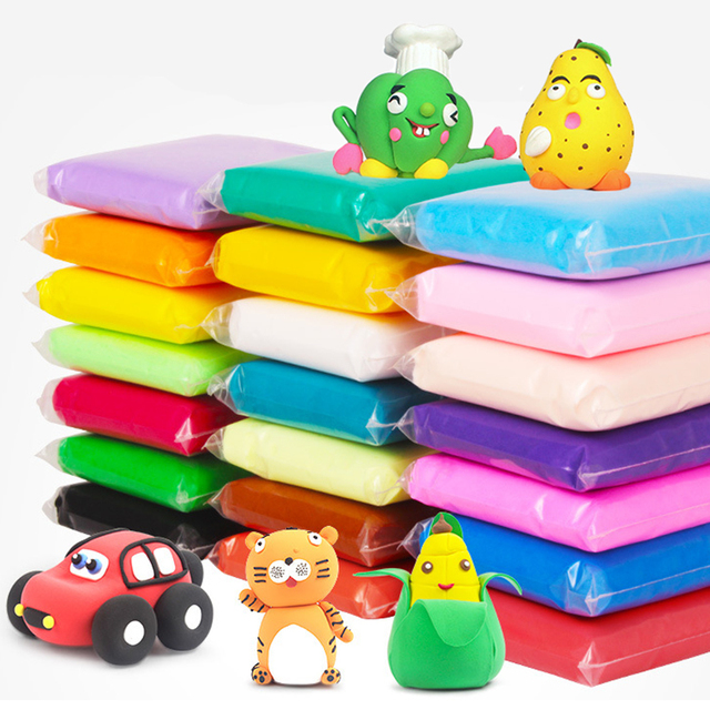 12/24/36pcs/lot Slime Toys Safe Nontoxic Malleable Fimo Polymer Playdough Air Drying Casting DIY Soft Plasticine Polymer Clay