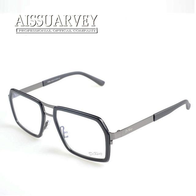 Мода очки с прозрачными линзами маркос де lentes opticos óculos де грау masculino мужчины titanium металлический каркас очки антистресс