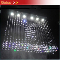 2015 New Restaurant Hanging Wire Crystal Lamp LED Curtain Partition Crystal Chandeliers Bedroom Living Room Crystal