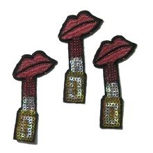 2018 Rushed Handmade 3d 1pcs New Style Red Lipstick Patch Iron On Patches For Clothing Bag Jacket Appliques Diy Accessory(China)