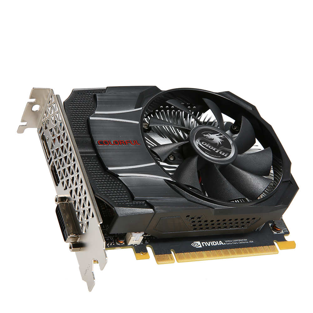 Colorful NVIDIA GeForce GTX1050 Mini OC 2G Graphics Card 1354/1455MHz 7Gbps GDDR5 128bit PCI-E 3.0 With HDMI DP DVI-D Port