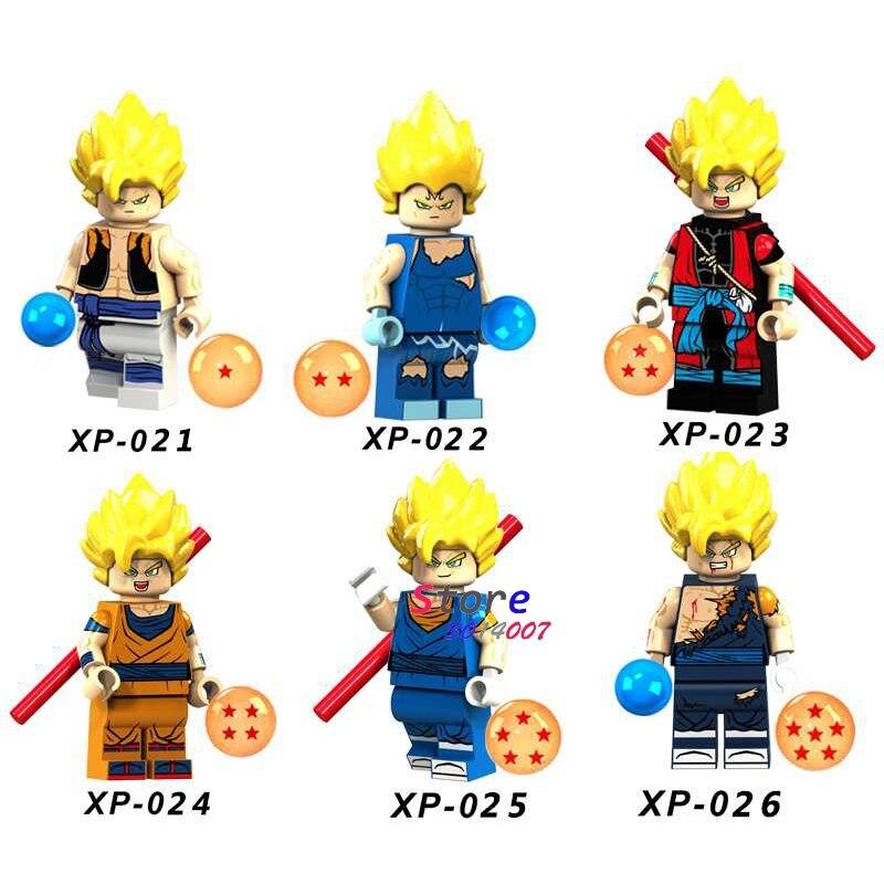 50pcs Building Blocks Dragon Ball Z Goku Vegeta Hope Deadpool Red Arrow Firestar Mister Terrific for
