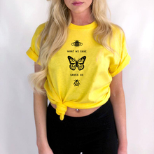 Bees What We Save Butterfly Saves Us T Shirt Women Graphic Tee Shirt Tumblr Grunge 90s Aesthetic Shirts