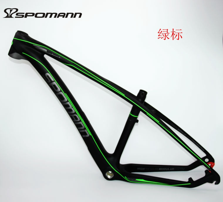 Newest SPOMANN 27.5*15.5/17.5/19.5 inch Mountain bicycle matte UD full carbon fibre bike carbon frame 27.5er MTB parts headsets