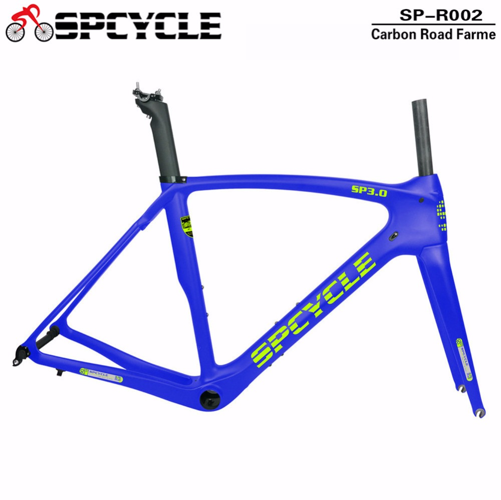 Smileteam 700c Road Carbon Bike Frame, Full Carbon Aero Bycycle Frameset , Bike Frame parts Quick Shipping smileteam t800 aero carbon road bike frame di2