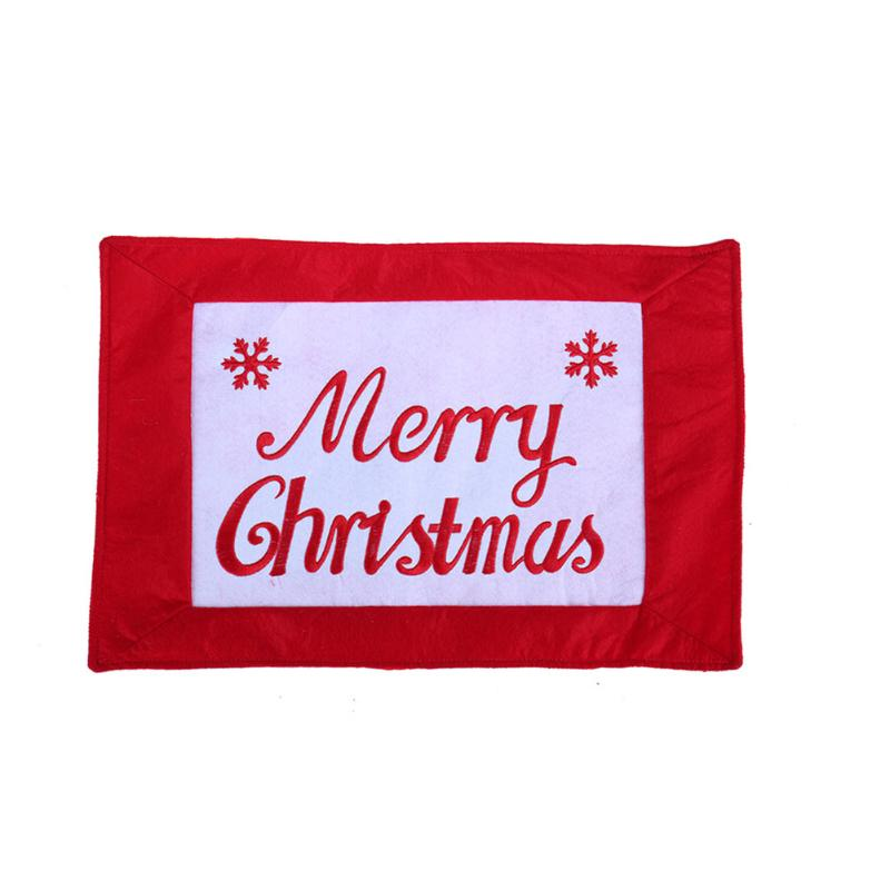 Machine Embroidery Food Mat Merry Christmas Printed Pads Household Innovative Food Mat Home Table Decoration & Accessories 2017