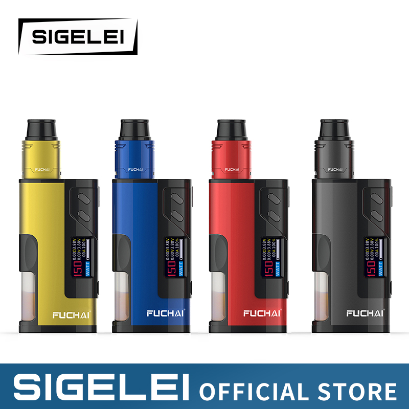 NEWEST SIGELEI FUCHAI Range Fuchai Squonk 213 E Electronic Cigarette Vape Kit Mod And Atomizer
