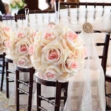5Pcs/lot Artificial Silk Flower Rose Balls Wedding Centerpiece Pomander Bouquet for Wedding