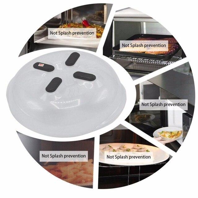 2pcs Hover Cover Magnetic Microwave Splatter Lid With Steam Vents Dishwasher Safe