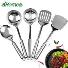 Нержавеющая сталь кухонная утварь набор посуды половник-дуршлаг лопатка Черпак антипригарный набор посуды