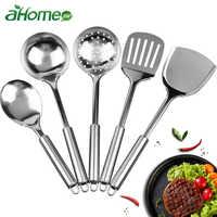 Stainless Steel Kitchen Cooking Utensil Set Cookware Colander Spoon Spatula Shovel Nonstick Cookware Set