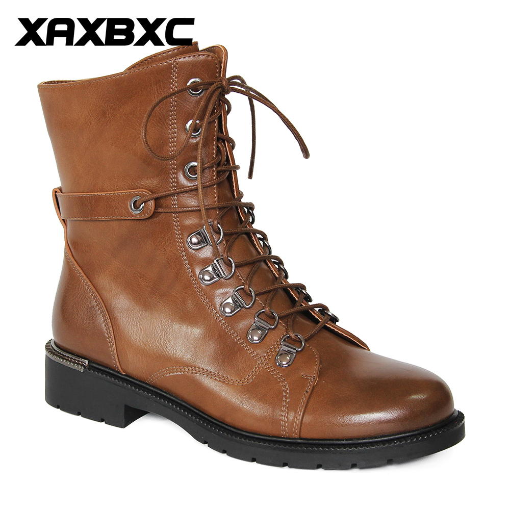 Tastabo Genuine Leather Ankle Boots High Quality Fashion