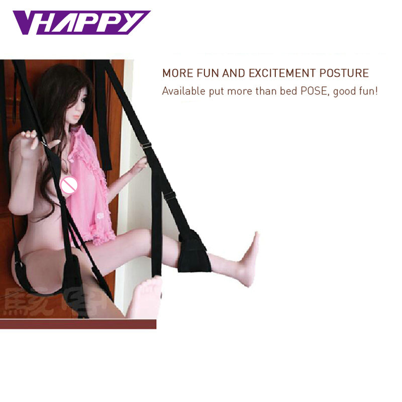 TOUGHAGE Door Swing <font><b>Sex</b></font> <font><b>Sling</b></font> <font><b>Sex</b></font> Game Hoisting Strap <font><b>Adult</b></font> Sexy Fantasy Love Toys for Couples Adjustable Restraint Straps J404 image