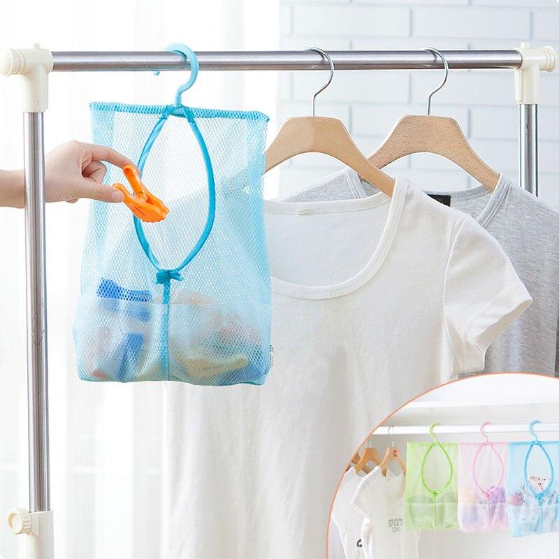 Multifunctional hanging storage bag container for toys mesh bag crib bedding bathroom laundry storage makeup organizer tempat make up gantung