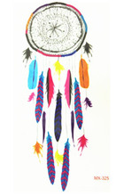 10x6cm Temporary Small Fashion Tattoo Cool Color Dreamcatcher Waterproof Temporary Tattoo Stickers