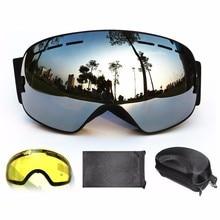 BENICE brand snowboard goggles 2 double lens UV400 anti-fog spherical ski glasses skiing men women +Lens+Box Set