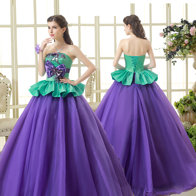 064f788af8024 Free ship purple and green bowknot ball gown long dress Medieval dress  Renaissance gown royal dress Victoria dress