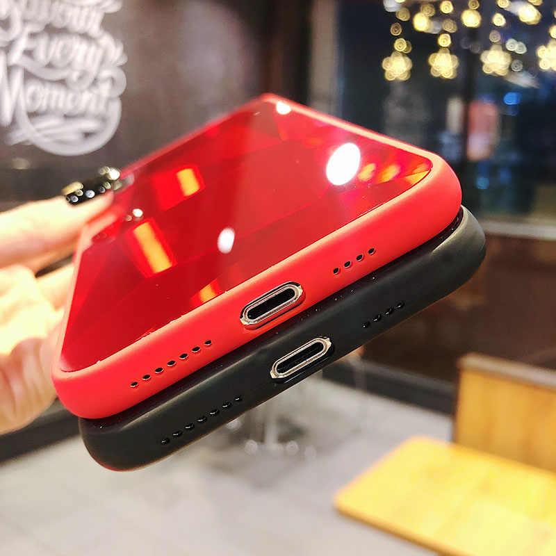 Diamond 3d Cermin Penutup Belakang untuk iPhone X 6 6 S 7 8 6 S Plus 7 Plus 8 PLUS case untuk iPhone 7 X X X Max XR 11 Pro Max Case