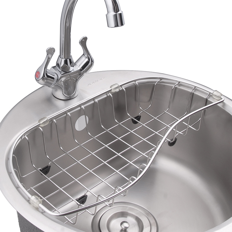kitchen sink rack best countertops jomoo drain basket strainer cleaning filter water draining holder storage in bathroom shelves from home